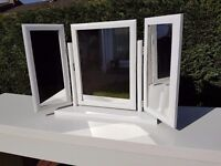 White Ikea dressing table and mirror
