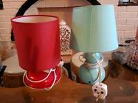 Blue and red lamp
