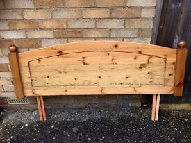 Antique Pine Headboard for a double bed.