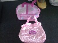 2 pink girls handbag