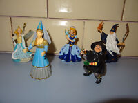 5x Papo Fantasy play figures. Dolls House. Witch, Wizard, Fairy and 2x Princesses
