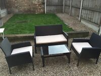 Rattan Effect Outdoor Sofa and Chair Set