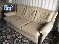 3+1+1 Sofa Suite - Cream/Gold