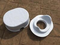 Toddler step and toilet seat