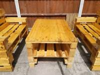 Wooden garden furniture. Solid heavy