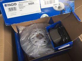VW Passat brake discs and pads
