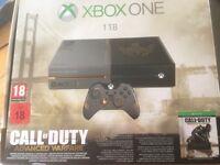 Xbox One - 1TB - Advanced Warfare edition - Games, Turtle Beach Headset, Venom Twin Docking Station