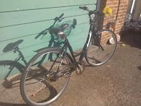 Ladies hybrid / city comfort bike with brand new tyres fitted today. Any Offers ?.