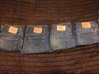 Levi jeans designer red tab label vintage