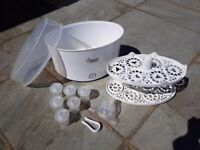 Tommee Tippee Electric Steam Steriliser with Bottle Warmers, Carriers, Teats, Powder Pots and Tongs