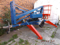 Cherry Picker Access Platform 12 metre Hydraulic outriggers, new batteries charger and Motor