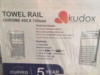 KUDOX SILVER TOWEL RAIL (H)700MM (W)400MM