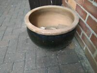 "Two glazed garden pots. Were expensive new. Sizes are 19"" & 14"". Still on here still for sale"