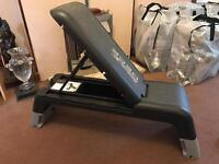 Reebok step deck and bench. Very good condition