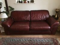REAL LEATHER SOFA , TOP QUALITY LARGE 2/3 SEATER SOFA