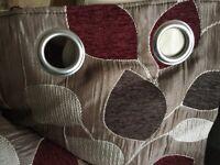 """Sundour lined eyelet curtains 90"""" drop x 65 """" width each curtain"""