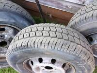 Iveco daily tyres on rims