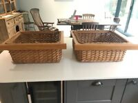 Two x Kitchen Wicker Baskets
