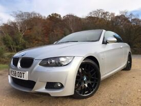"2009 BMW 320d M Sport Convertible *Watch Video* New MOT and Warranty Included 19"" Wheels Cruise PDC"