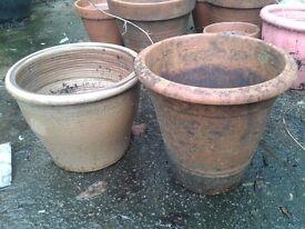 Garden pots - £10 for both