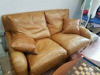 Duresta leather sofa