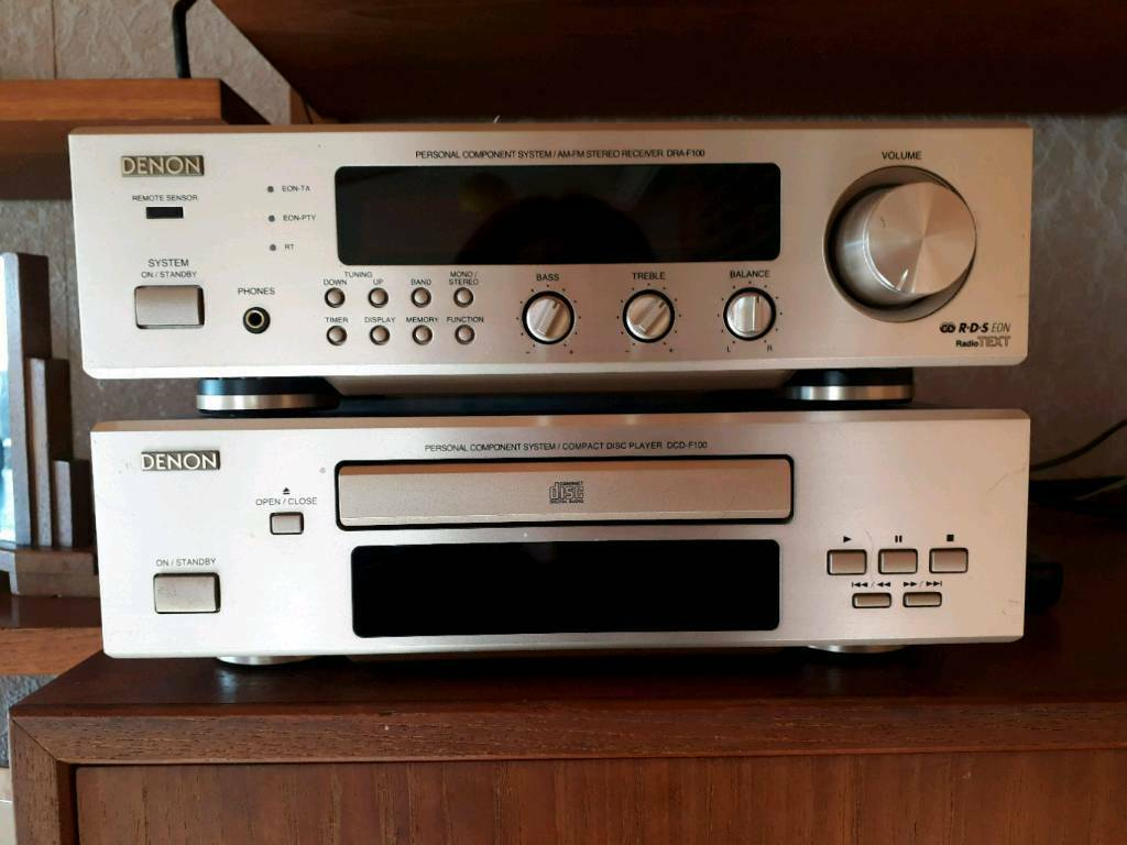 Denon DRA-F100 mini hi-fi system radio tuner and DCD-F100 CD player and  speakers | in Emmer Green, Berkshire | Gumtree