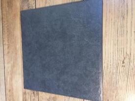 Floor tiles x 4 boxes black