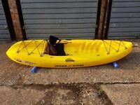 Ocean Kayak Sit On Top Kayak - Yellow - Hardly used