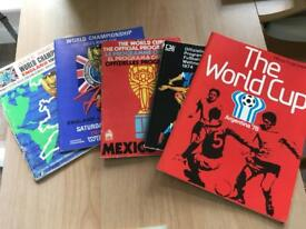 Complete set of World Cup programmes from 1966 to 2014.... plus bonus 1966 magazines