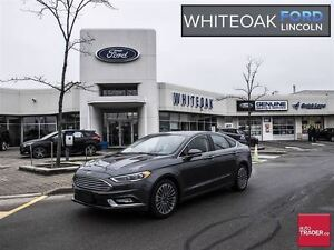 2017 Ford Fusion SE, TECH PKG, LEATHER, ROOF, 18 WHEELS