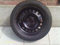 Zafira spare wheel with new tyre (Zafira B model)