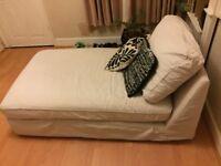 Ikea sofa bed fabric (beautiful cream finish)