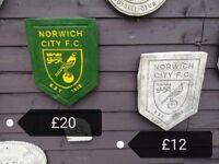 Norwich City Garden Plaque