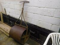 cast iron field garden roller by c&h tickell foundry in southampton
