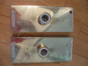 TWO VINTAGE CANADIAN-MADE NEVER USED INTERIOR LIGHT FIXTURES