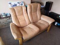 stressless ekornes two seater sofa