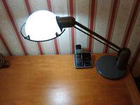 "Desk Lamp, ""Steelcase Strafor"", Lyra. High quality executive lamp."