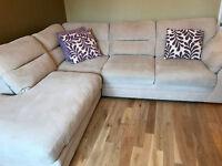 Comfortable cream corner sofa with chaise