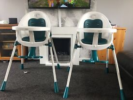 Mamas and papas teal bop 2 in 1 high chair