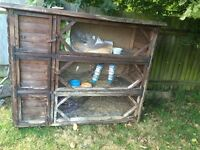 collect for FREE Large Rabbit Hutch 130cms height x160cms wide x60cms deep