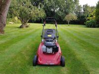 "MOUNTFIELD M5 21"" self-propelled petrol lawnmower with roller."