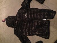 Ea7 coat worn 2 times and brand new adidas original short and t-shirt