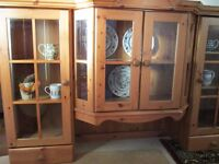 Dresser TOP. glazed cupboards, 2 drawers, loads of storage, transport maybe possible,wall unit