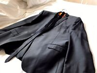 Black Ben Sherman Suit - with Jacket, tie and trousers