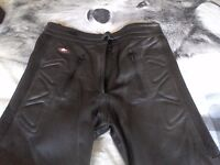 Ladies leather akito motorbike trousers size 14 never used.