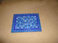 ceramic blue rectangular pot stand