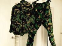Army combat jacket and trousers