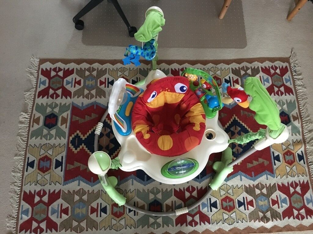 98624d6f76e0 Fisher-Price Rainforest Jumperoo  Baby Bouncer  Jumper - good condition