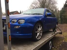 MG ZR breaking all parts 1.4 half leather rover 25