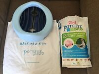 Brand new potette plus travel potty with liners